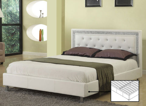 CRYSTAL JEWEL FAUX LEATHER BED