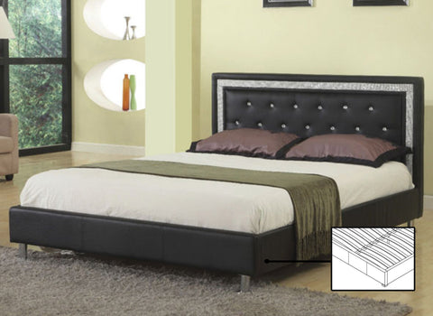 JEWEL PADDED FAUX LEATHER BED