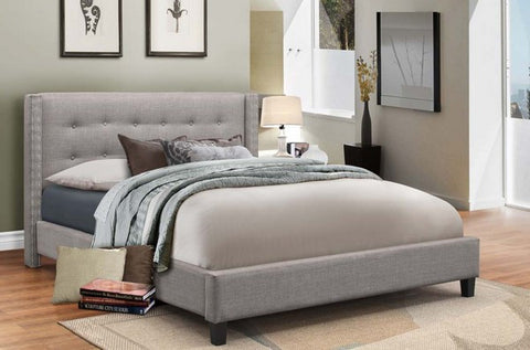 BRIANE GREY PLATFORM BED