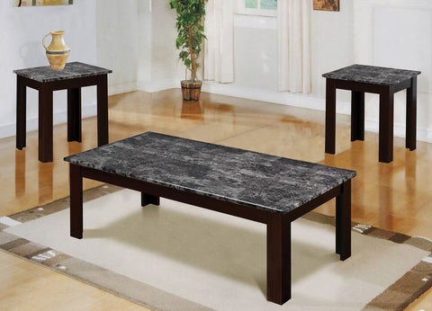MARBLE GREY COFFEE TABLE SET