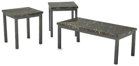 MARBLE DARK COFFEE TABLE SET