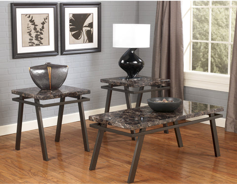 SENOK FAUX MARBLE COFFEE TABLE SET