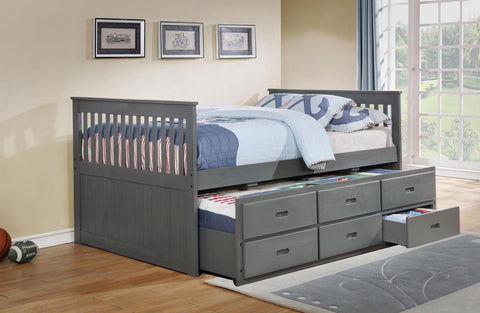 VERSAILLES GREY TRUNDLE BED