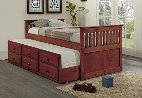 VERSAILLES CHERRY TRUNDLE BED