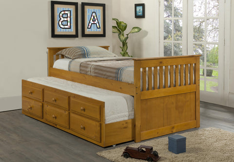 VERSAILLES HONEY TRUNDLE BED