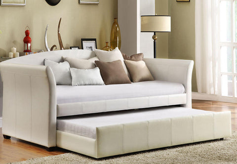 JULIANE WHITE DAY BED WITH TRUNDLE