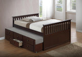 VERSAILLES DARK TRUNDLE BED