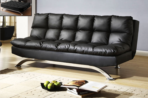 SIMONE BLACK SOFA BED