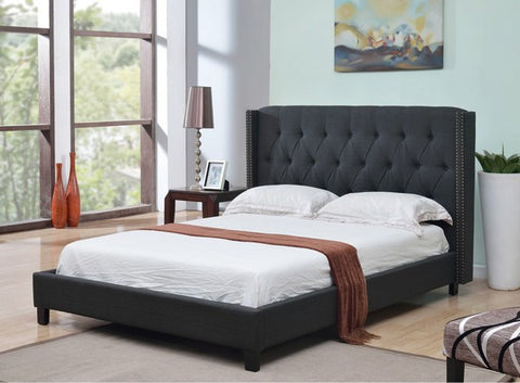 BELLA DARK PLATFORM BED