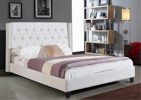 BELLA IVORY PLATFORM BED