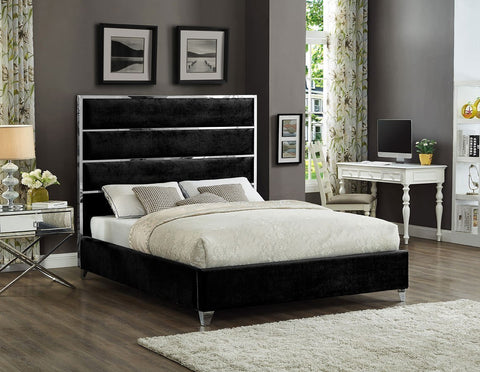 ISABELLA DARK PLATFORM BED
