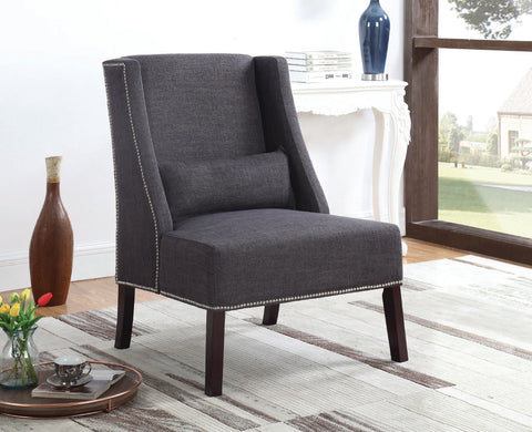 ALYSSA GREY ACCENT CHAIR