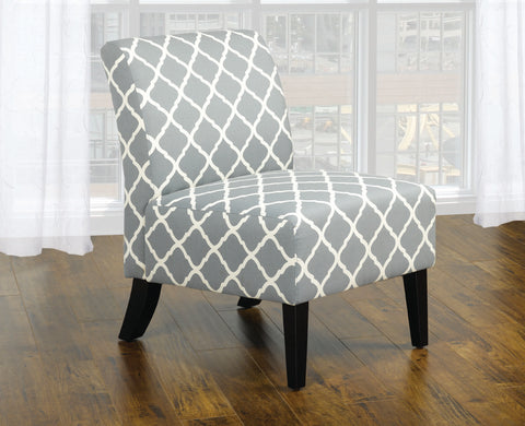 CLAIRE GREY ACCENT CHAIR
