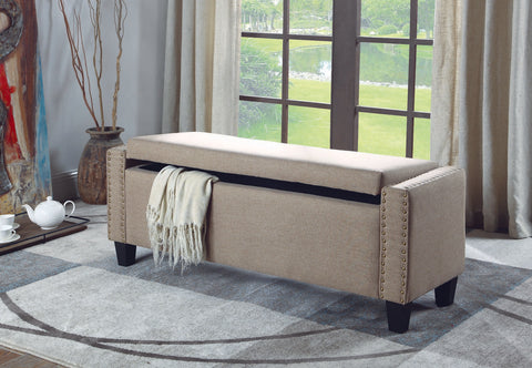 DARLENE BEIGE STORAGE BENCH