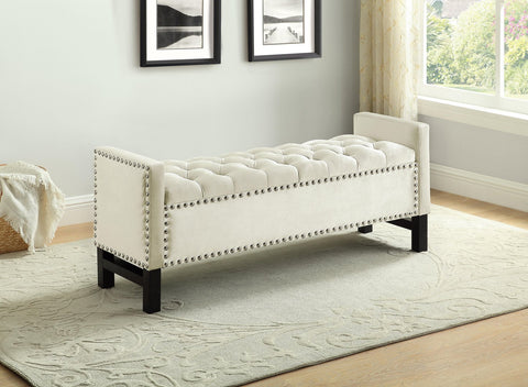 BELMONT CREME STORAGE BENCH