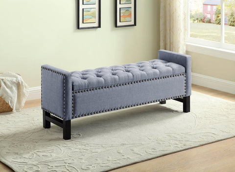 JANNET GREY STORAGE BENCH