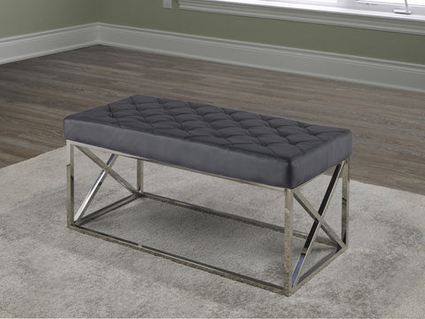 ZENATE VELVET METAL BENCH
