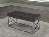 ZENATE LEATHER METAL BENCH