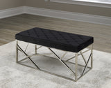 ZACH SILVER METAL BENCH
