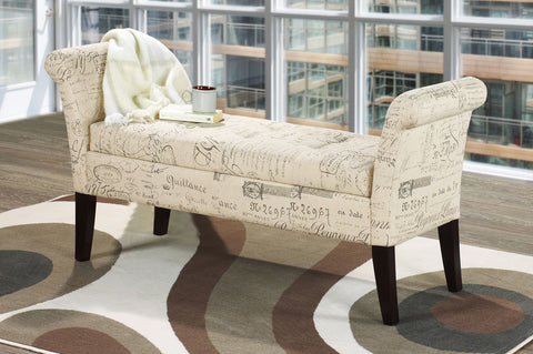 RENAY BEIGE STORAGE BENCH