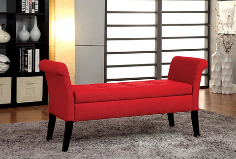 RIONE RED STORAGE BENCH