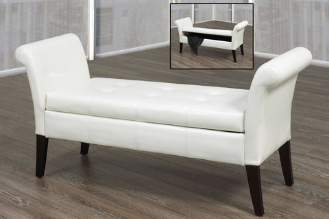 EMORY WHITE STORAGE BENCH