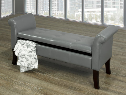 EMORY GREY STORAGE BENCH