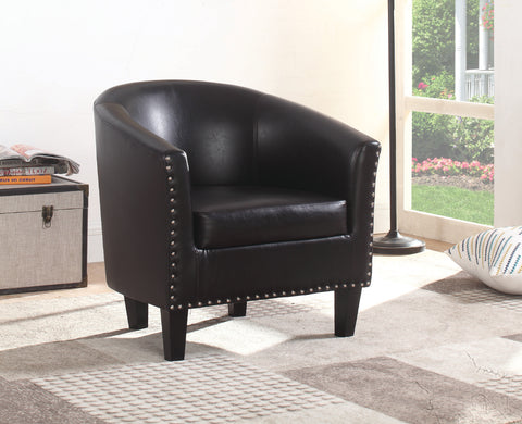 BRUNO BLACK TUB CHAIR