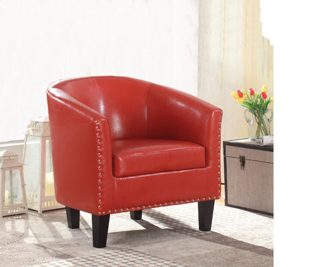 BRUNO RED TUB CHAIR