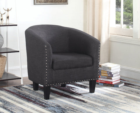 BRUNO DARK TUB CHAIR