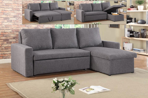 RIANO GREY SECTIONAL SOFA BED