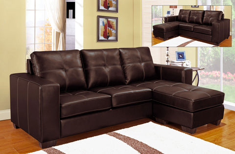 DENISE BROWN SECTIONAL SOFA