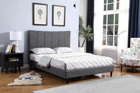 JULIAN GREY PLATFORM BED