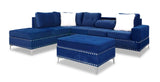 DAHLIA BLUE SECTIONAL SOFA