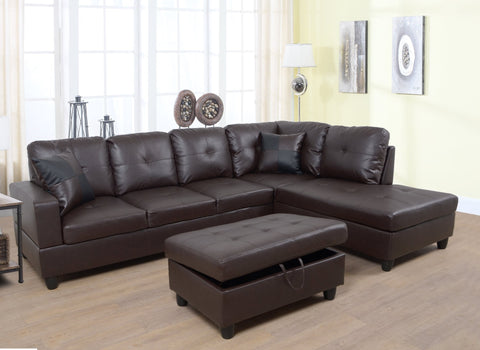 BELLA BROWN SECTIONAL SOFA