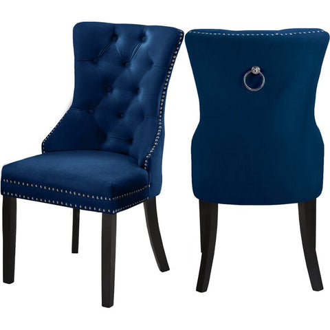 DARLENE BLUE ACCENT CHAIR(SET OF 2)