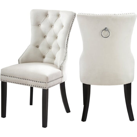 DARLENE CREME ACCENT CHAIR(SET OF 2)