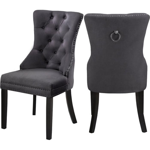 DARLENE GREY ACCENT CHAIR(SET OF 2)