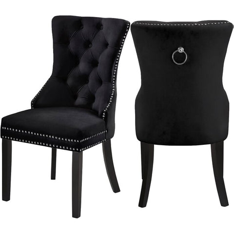 DARLENE BLACK ACCENT CHAIR(SET OF 2)