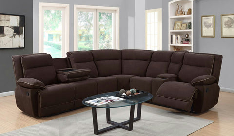 EVELYN BROWN SECTIONAL SOFA