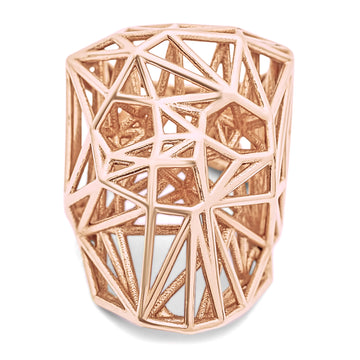 Wired Skullz - Ring - 10K Rose Gold - Gab Mc Neil