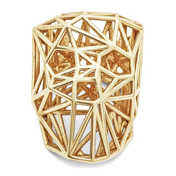 Wired Skullz - Ring - 10K Yellow Gold - Gab Mc Neil