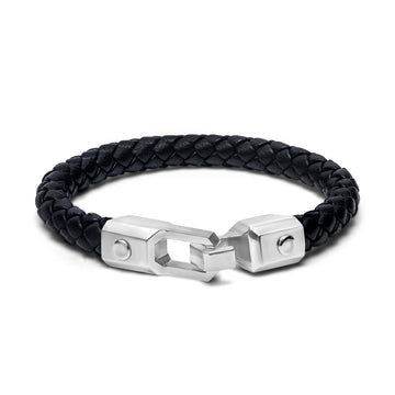 M18 - Bracelet - 925 Sterling Silver - Leather - Gab Mc Neil