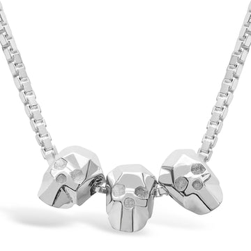 Trio Skullz - Necklace - 925 Sterling Silver - Gab Mc Neil