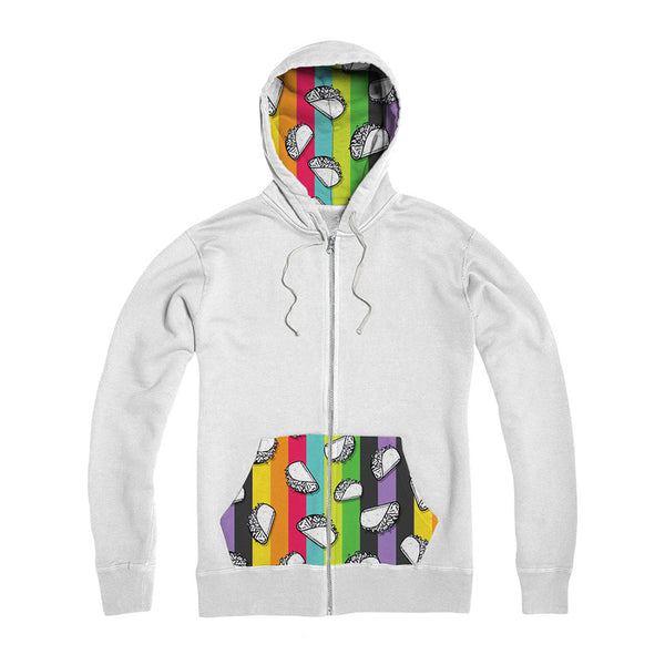 Color Ray Zipper Hoodie