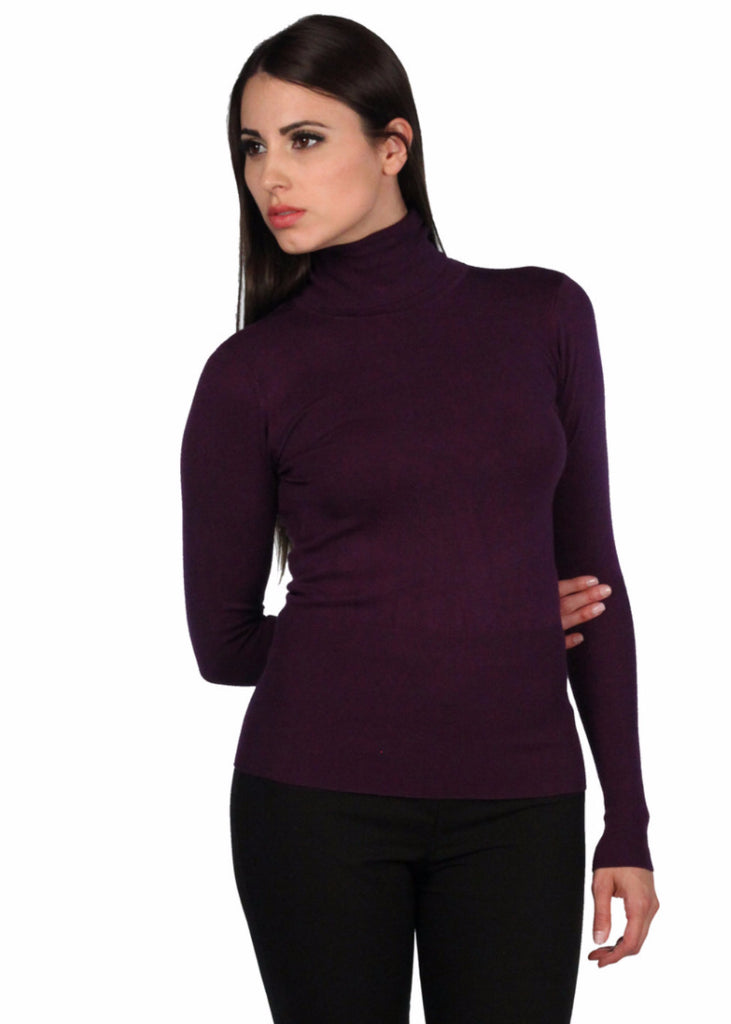 CODENTRY Turtle Neck Long Sleeve Knitted