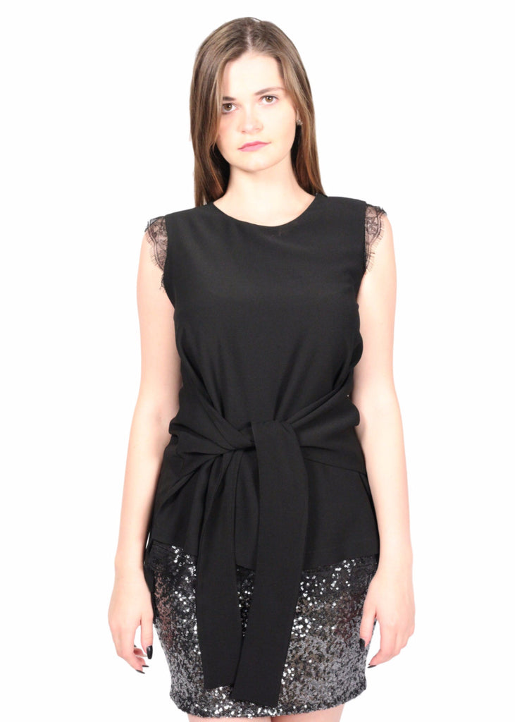 NOCTURNE Front Bow Black Top
