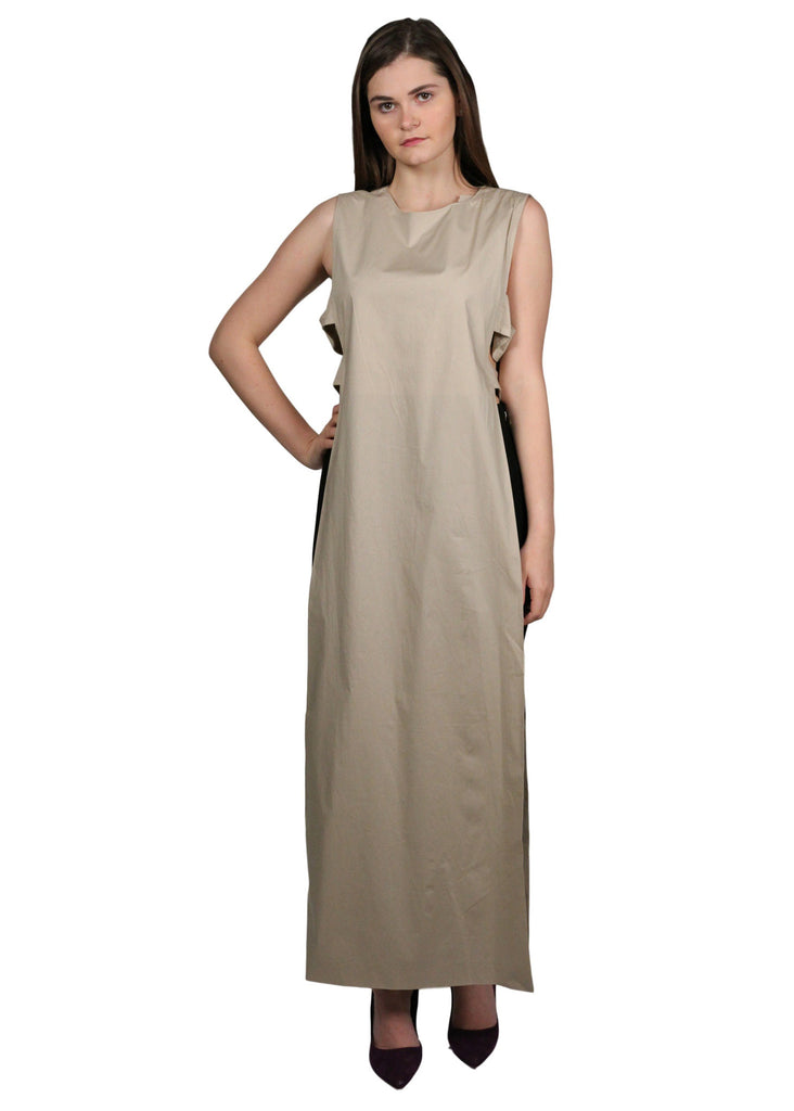 MIMYA Long Maxi Beige Top