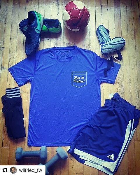 image kit training tshirt bleu poutine