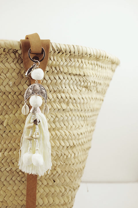 Ivory Bag Charm with Cowrie Shells